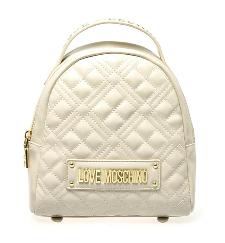 Collectie Love Moschino mini backpack beige